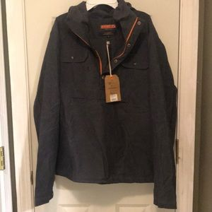 Ball and buck waxed cotton 1/4 zip pullover Sz M